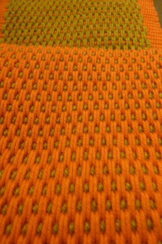 Andean pebble weave. Piedritas