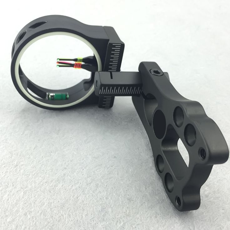 """New Fiber Optic Adjustable Extreme Tactical Compound Bow Sight 3-Pin 0.029"""" Hunting Shooting Archery"""