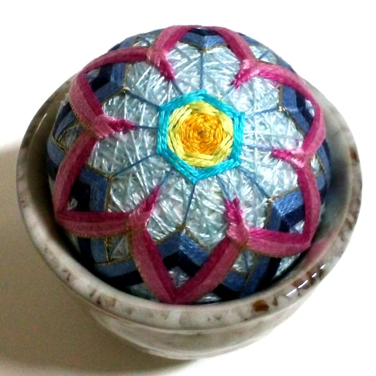 light blue tea cup pincushion