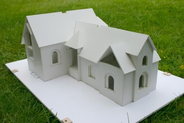 Foam Board Mini Houses : How to build model buildings from foam board lionel