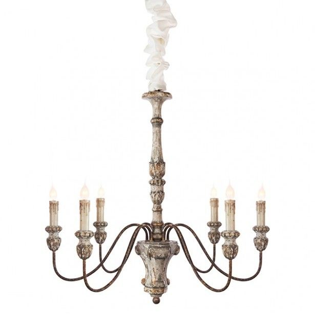 Vintage White And Gold Chandelier Grey Lighting Grey
