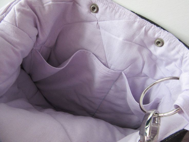 Made from recycled a black jeans with light purple color liner with one pocket outside and single pocket inside.