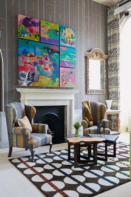 Kit Kemp Pattern and Colour Idea - Living Room Design Ideas & Pictures (houseandgarden.co.uk)