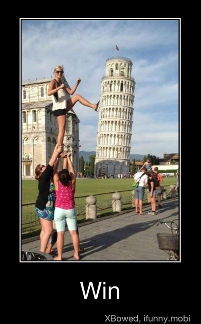 It's not just about the leaning tower of Pisa... I want to do this pose as well.  So: bring friend