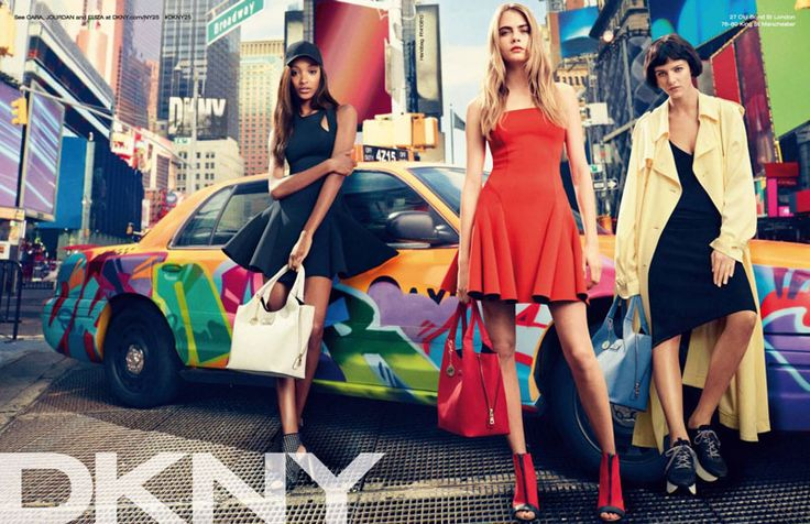 Jourdan Dunn, Cara Delevingne & Eliza Cummings for DKNY Spring Summer 2014 Campaign | FashionMention