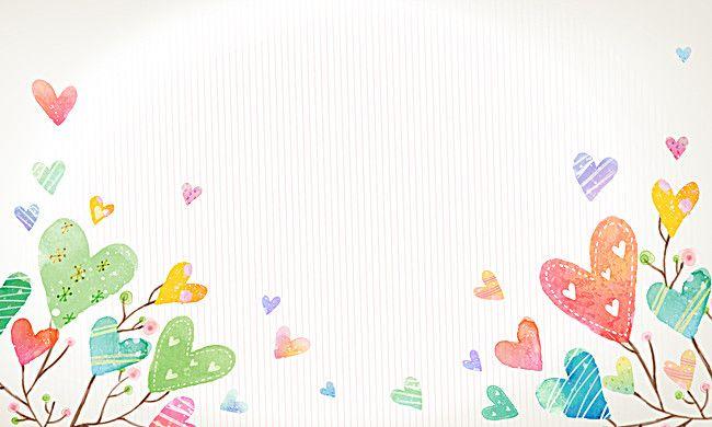 Cartoon Colorful Love Hearts Background Heart Background Poster Background Design Colorful Backgrounds