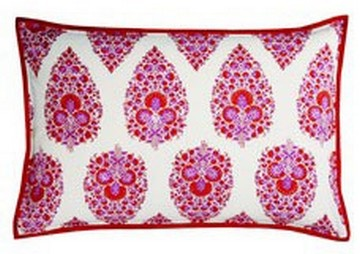 Block Printed India Rose Cushion