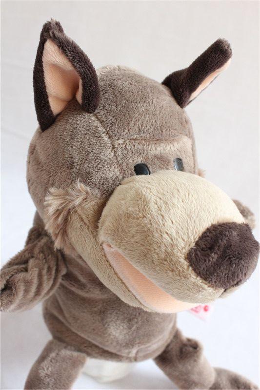Волк кукла-марионетка, надеваемая на руку плюш игрушки комикс животное кукла-марионетка, надеваемая на руку