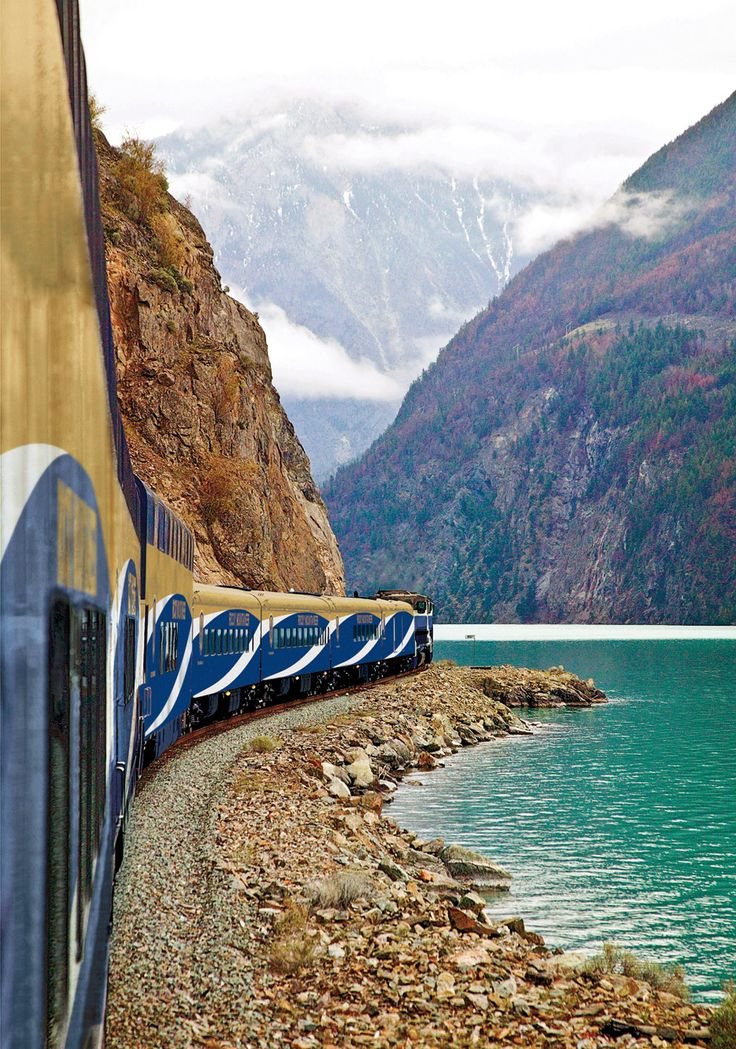 Ride the Rocky Mountaineer Train from Vancouver to Whistler or Vancouver to Banff .