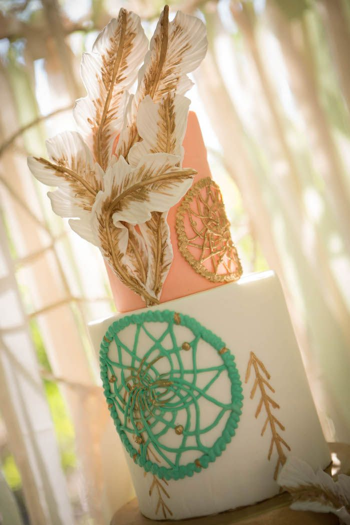 Pastel Dream Catcher themed birthday party via Kara's Party Ideas KarasPartyIdeas.com Printables, cake, invitation, decor, cupcakes, recipes, supplies, etc! #dreamcatcherparty #dreamcatcher #karaspartyideas (27)