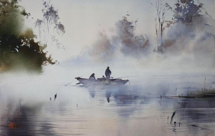 Ilya Ibryaev - Morning - watercolor - 53х35 cm
