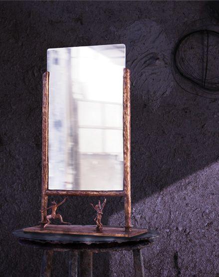 "Simone Ricart, ""Poggio Reale"" mirror, 2008, Italy #erastudio #erastudioapartmentgallery #designgallery #mirror #apartmentgallery #gallery#simonericart #italiandesign #bronze #goldenfinishing #design #interiorstyling #interiors #shearlin #artdesign #art #arte #artcollector #collectibledesign #artadvisor #artdealer #breradesigndistrict #milan #italy"