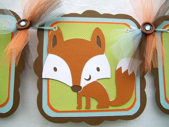 Woodland animals baby shower banner forest by Nancyscreations1, $31.99