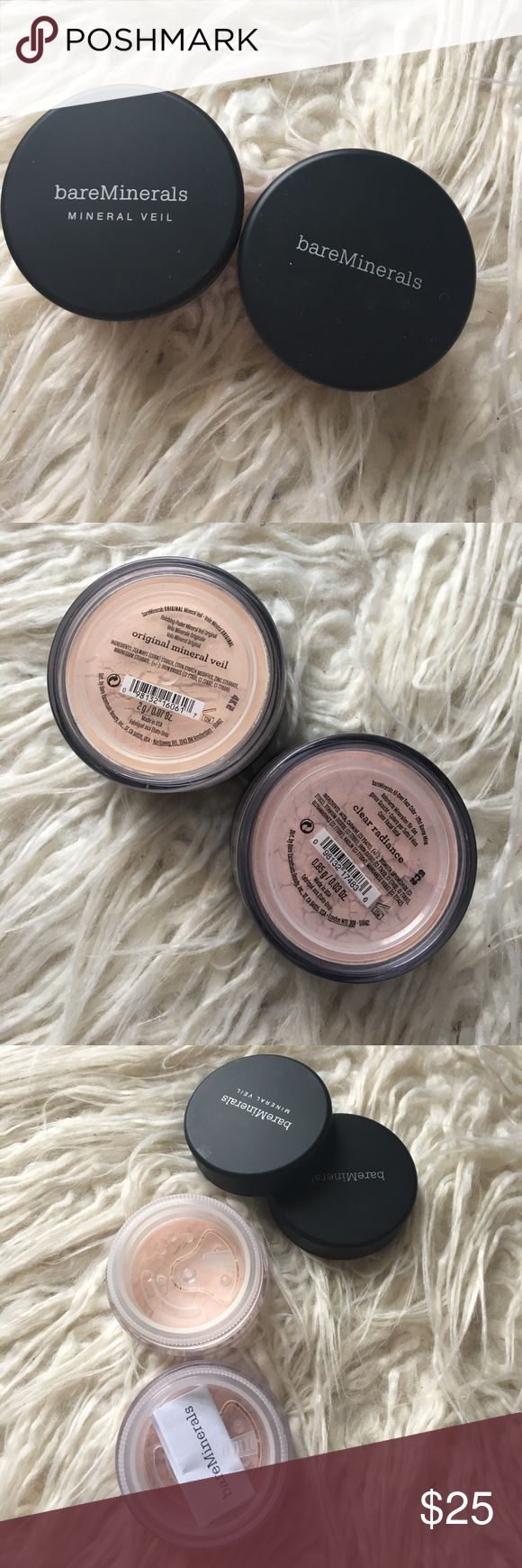 Bare Minerals Mineral Veil NIB bare minerals mineral veil and clear radiance both are brand-new and will ship same day payment is made bareMinerals Makeup Face Powder
