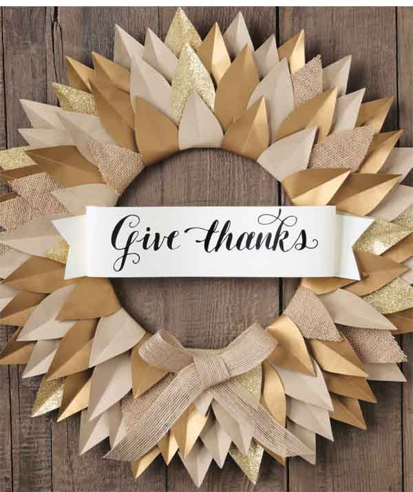 Give Thanks Free Printable Banner