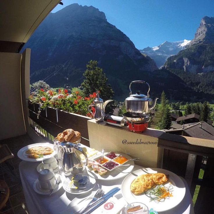 Breakfast in Grindelwald, Switzerland