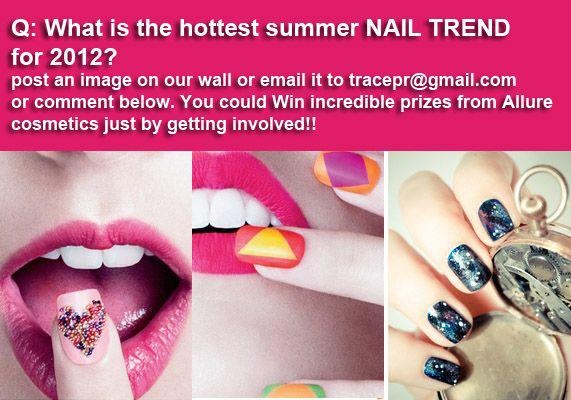 We want to know : Summer is here, what is the hottest look for nails? post a photo on to our wall or...