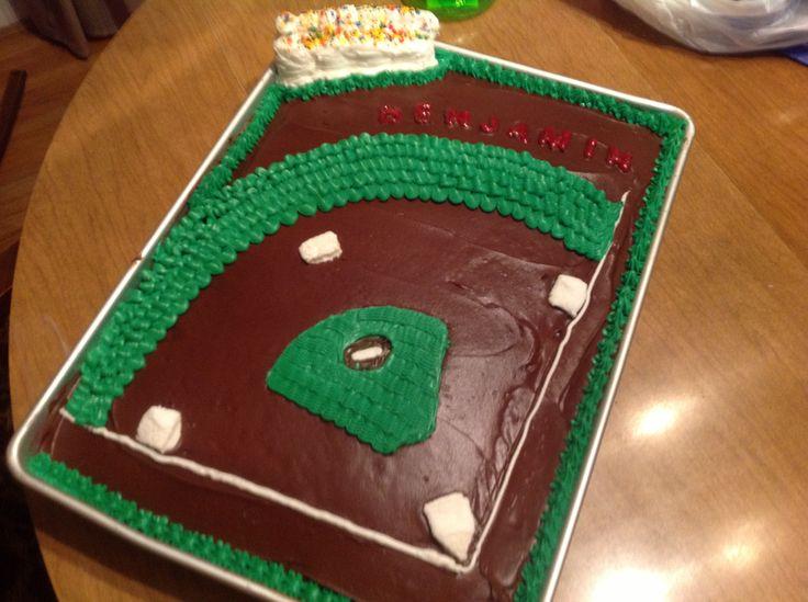Quick and easy baseball cake Birthday Ideas Pinterest