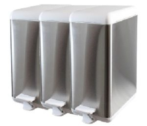 Cubo de basura de acero modular. -