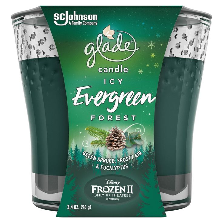 Glade Candle Icy Evergreen Forest 3.4oz Glade