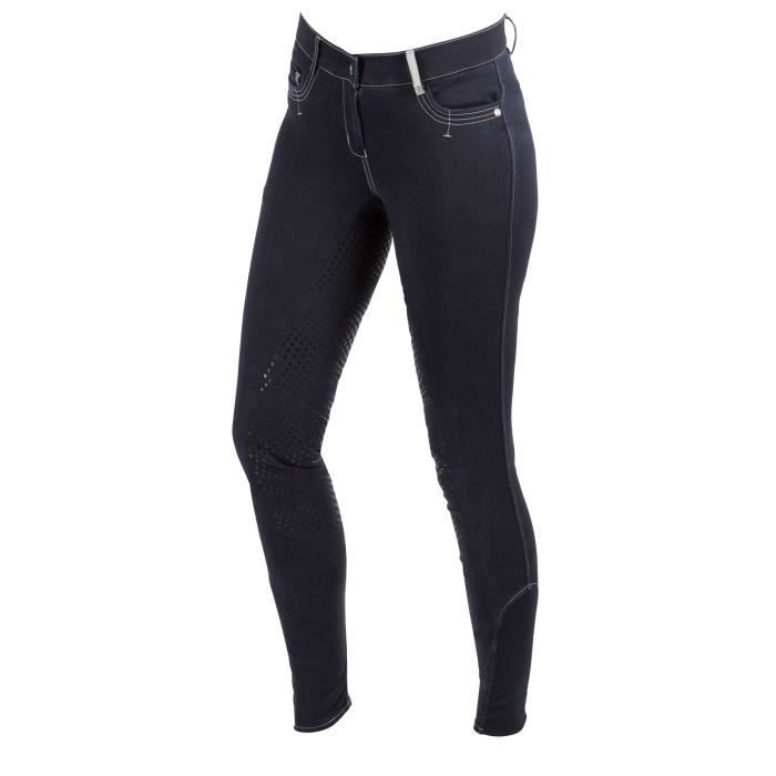 Femmes Pantalon jodphurs extensible noir /équitation