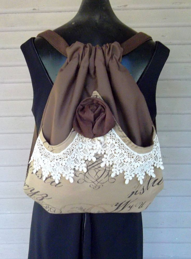 Shabby Chic Victorian Lace Backpack.