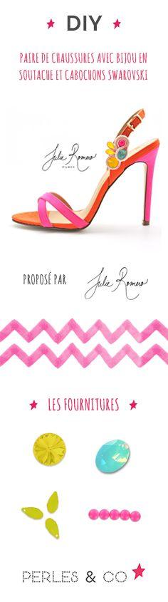 Envie d'avoir une paire de chaussures uniques pour une occasion spéciale comme une soirée ou un mariage ? Pas de problème, voici une astuce DIY pour customiser votre paire d'escarpin préférée en créant un bijou de chaussures avec de la soutache et des cristaux Swarovski. Dans ce tutoriel vidéo, vous découvrirez facilement comment sertir un cabochon Swarovski avec de la soutache. Avec un peu de patience et de dextérité, la technique de la soutache n'aura plus de secret pour vous! #soutache…