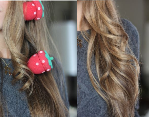 Amelia Liana - Heatless rollers - Strawberry foam rollers that curl hair ... WHAT.