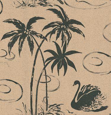 Tropical Swan wallpaper by Belynda Sharples
