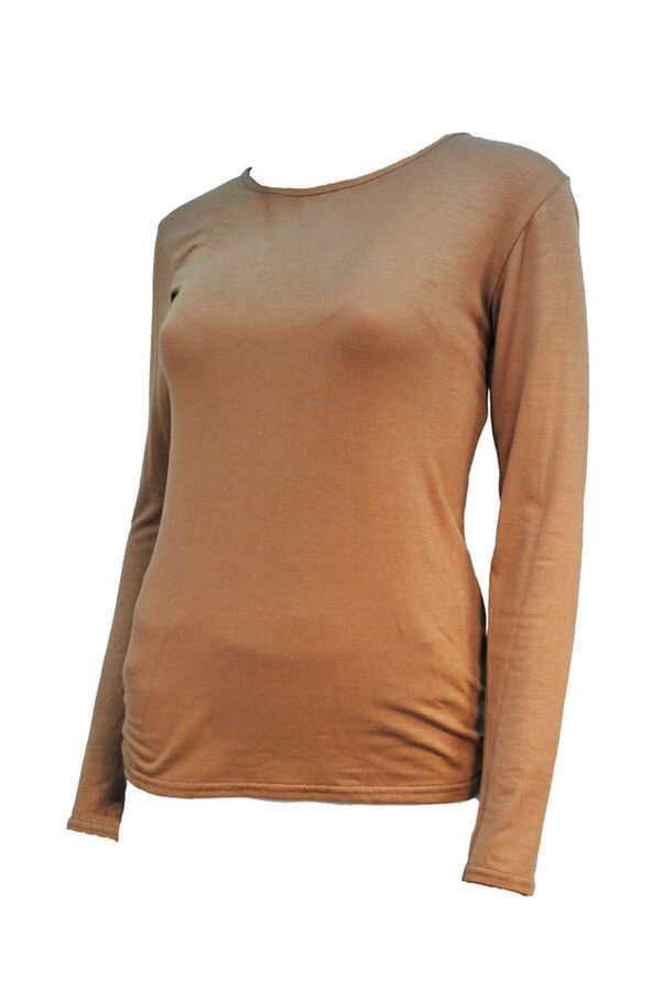 58cbbe52a9aa9 LADIES PLAIN LONG SLEEVED T-SHIRT TOP ROUND NECK LAYERING BLACK RED GREY 8  - 18 SLEEVED SHIRT TOP