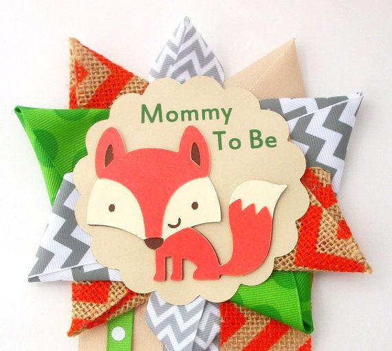 Hey, I found this really awesome Etsy listing at https://www.etsy.com/listing/205560504/fox-baby-shower-corsage-woodland-animals