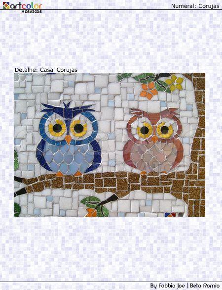 mosaico del búho
