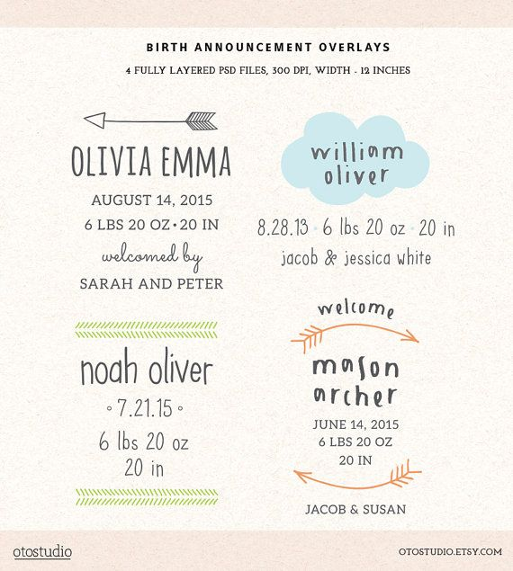 95 best birth announcements images on Pinterest Card patterns - announcement template