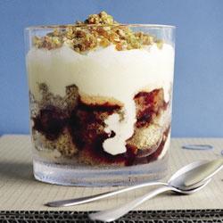 Damson & walnut trifle
