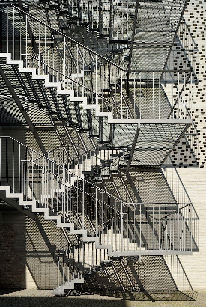 Kolumba Museum. Back-side exteriorstaircase. Photo by Yuri Palmin