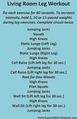 Living Room Leg Workout