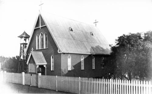 All Saints Boonah Roman Catholic Church with bell tower ,ca 1924  -Victoria