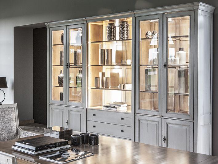 Composition Bibliotheque Vitree Directoire Mobilier De Salon Meuble Haut De Gamme Meuble Grange