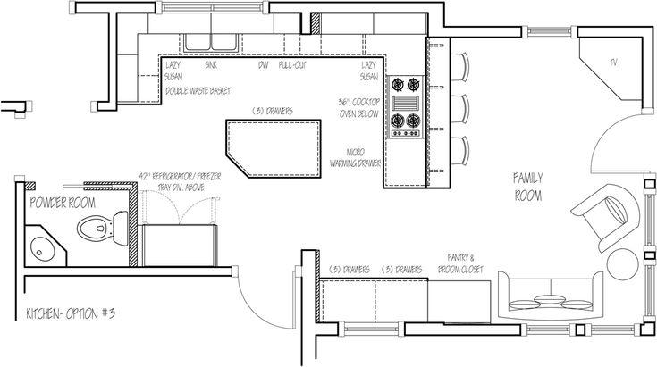 13 best kitchen plans images on pinterest for 10 x 13 kitchen floor plan