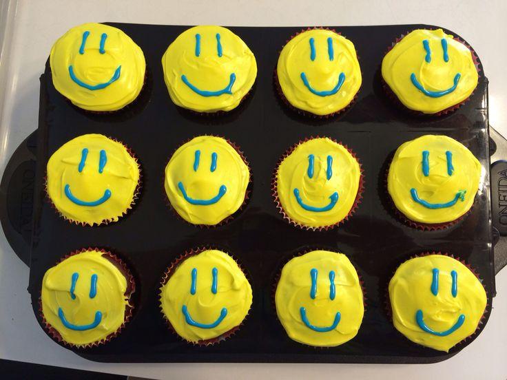 Smiley Face cupcakes