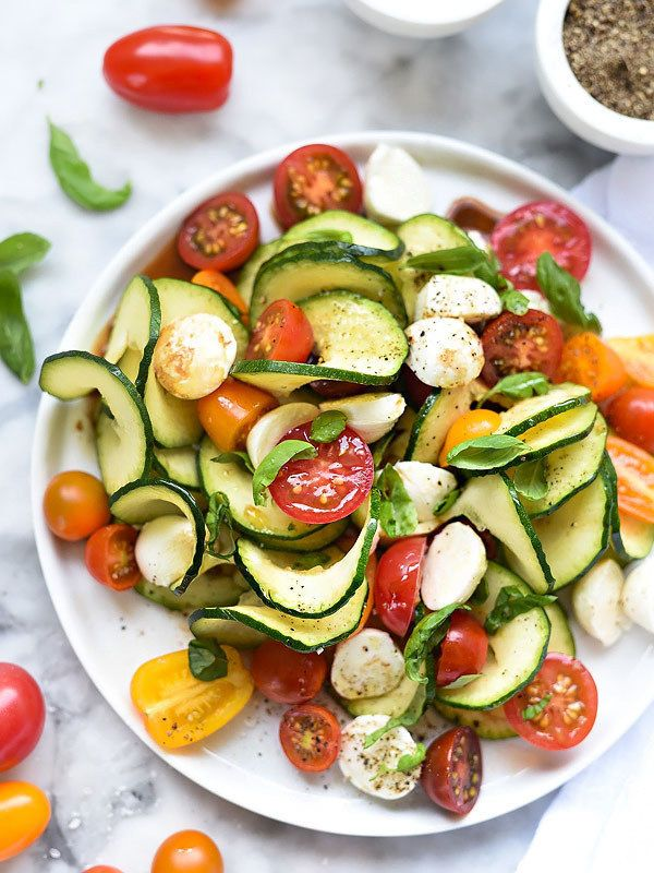 Caprese Zucchini Salad | 21 Genius Ways To Turn Vegetables Into Noodles