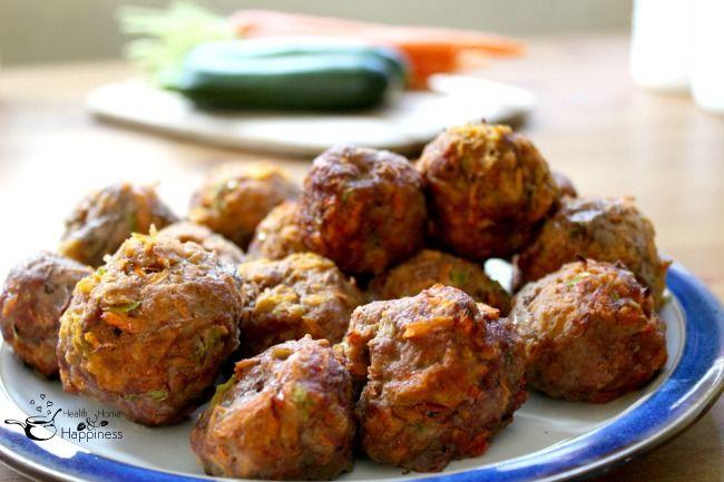 Veggie Packed Grain Free Meatballs - perfect freezer recipe