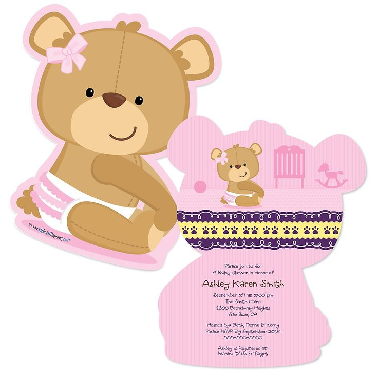 Pink Teddy Bear Baby Shower: 98 Best Teddy Bear Baby Shower Theme Images On Pinterest