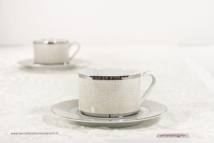 Runner, centerpiece and tea cups