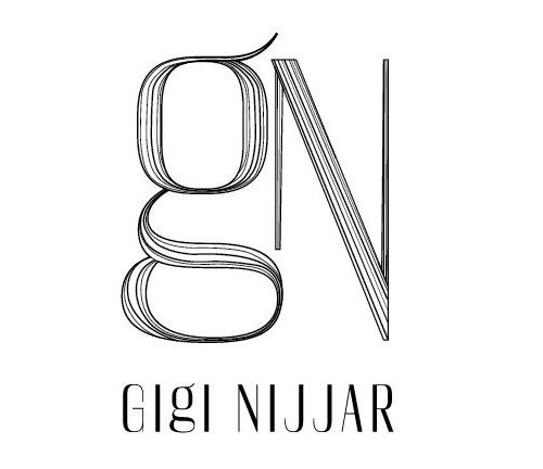 Logo for the über-talented hair, makeup and wardrobe stylist Gigi Nijjar. by Harjeet Gill, on Behance.