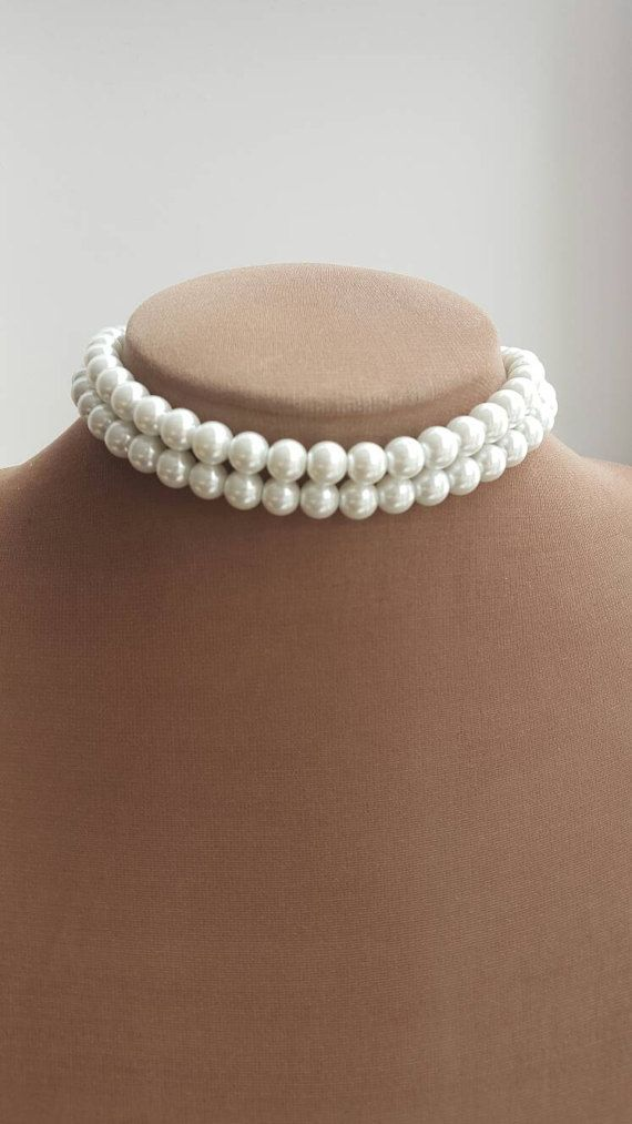 Check out this item in my Etsy shop https://www.etsy.com/ca/listing/496490894/two-strand-pearl-choker-necklace