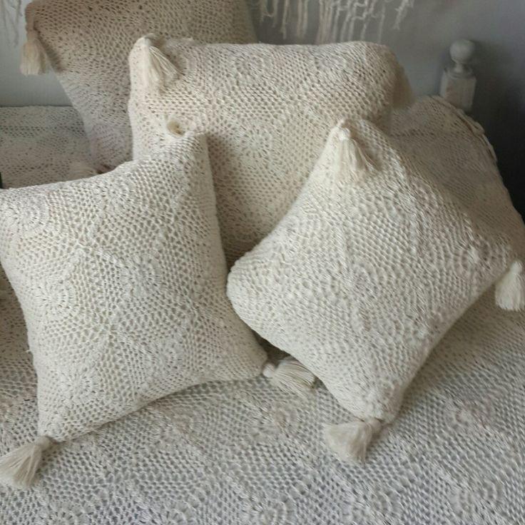 Stunning collection of crochet pillows