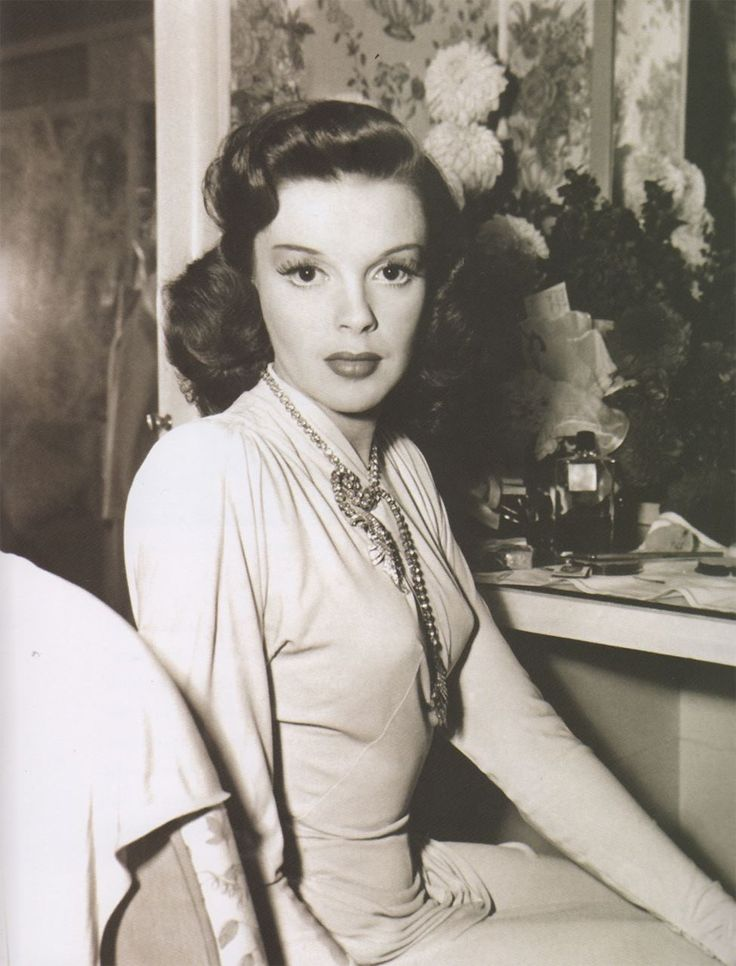 Judy Garland wearing Joseff of Hollywood jewelry.  See beautiful pics like this in soon to be released Joseff of Hollywood book...  Pre-order Joseff of Hollywood: Putting the Tinsel in Tinseltown  By Michele Joseff www.joseffofhollywoodbook.com