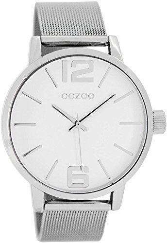 Oozoo Damenuhr mit Metallband 40 MM Weiss/Silber/Silber C7565 - http://on-line-kaufen.de/oozoo/oozoo-damenuhr-mit-metallband-40-mm-weiss-silber