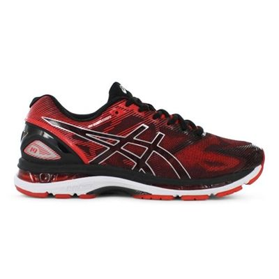 Start a healthy life with this  ASICS Mens GEL-Nimbus 19 Black Vermillion Silver - http://fitnessmania.com.au/shop/the-athletes-foot/asics-mens-gel-nimbus-19-black-vermillion-silver/ #Black, #Gel, #Mens, #Nimbus, #SILVER, #TheAthletesFootGtApparelAccessoriesGtShoesGtAthleticShoesGtRunningShoesGtASICS, #Vermillion